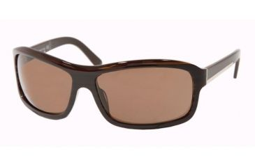 Prada PR02IS #7N68C1 - Black Ebony Frame, Brown Lenses