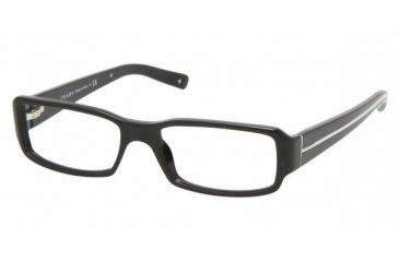 Prada PR02MV #1AB1O1 - Gloss Black Frame, Demo Lens Lenses