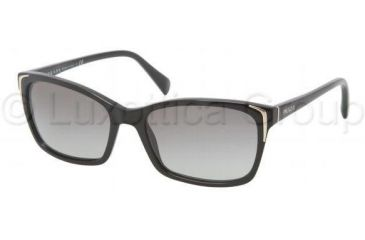 Prada PR02OS Single Vision Prescription Sunglasses PR02OS-1AB3M1-5417 - Frame Color Black, Lens Diameter 54 mm