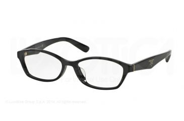 2291a07c5ce Prada PR02SV Single Vision Prescription Eyeglasses 1AB1O1-54 - Black Frame