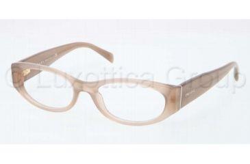 Prada PR03PV Single Vision Prescription Eyeglasses MAR1O1-5117 - Opal Olive Green Frame, Demo Lens Lenses