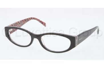 Prada PR03PV Bifocal Prescription Eyeglasses MAS1O1-5117 - Top Black Frame, Demo Lens Lenses