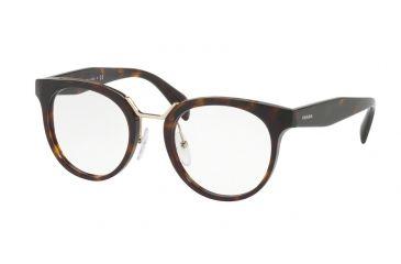 121dfbfb375 Prada PR03UV Single Vision Prescription Eyeglasses 2AU1O1-51 - Havana Frame