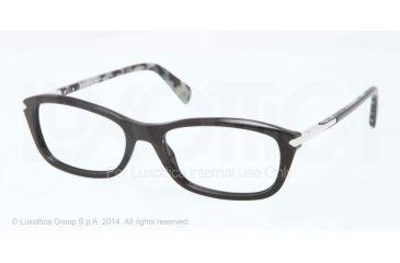 Prada PR04PV Prescription Eyeglasses 1AB1O1-52 - Black Frame