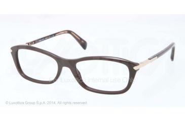 Prada PR04PV Prescription Eyeglasses DHO1O1-52 - Dark Brown Frame