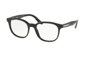 8eb3045e3622 Prada PR04UVF Eyeglass Frames 1AB1O1-54 - Black Frame