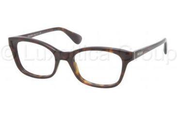 Prada PR05PV Progressive Prescription Eyeglasses 2AU1O1-5218 - Havana Frame