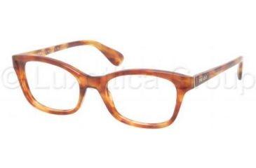 Prada PR05PV Progressive Prescription Eyeglasses 4BW1O1-5018 - Light Havana Frame