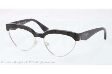 Prada PR05QV Eyeglass Frames 1AB1O1-54 - Black/Silver Frame