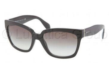 Prada PR07PS Progressive Prescription Sunglasses PR07PS-1AB0A7-5618 - Lens Diameter 56 mm, Frame Color Black