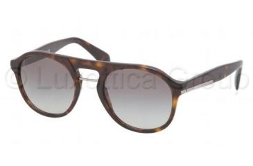 Prada PR09PS Sunglasses 2AU3M1-5120 - Havana Frame, Gray Gradient Lenses