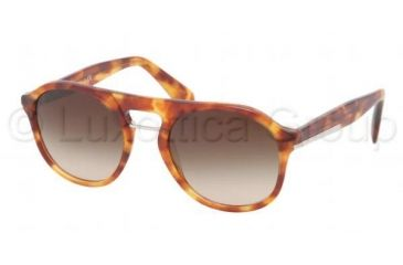 Prada PR09PS Sunglasses 4BW6S1-5120 - Light Havana Frame, Brown Gradient Lenses