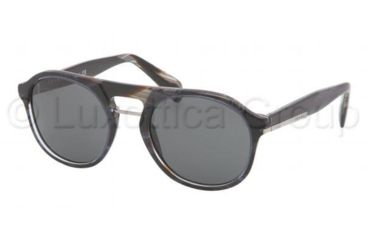 Prada PR09PS Bifocal Prescription Sunglasses PR09PS-EAR1A1-5120 - Lens Diameter 51 mm, Frame Color Striped Blue Horn