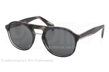 Prada PR09PS Bifocal Prescription Sunglasses PR09PS-EAR1A1-54 - Lens Diameter 54 mm, Frame Color Striped Blue Horn