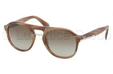 Prada PR09PS Sunglasses MAQ1X1-5120 - Light Horn Frame, Brown Gradient Lenses