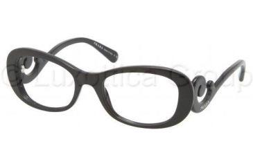 Prada PR09PV Progressive Prescription Eyeglasses 1AB1O1-5219 - Black Frame
