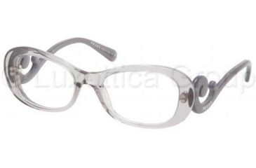 Prada PR09PV Progressive Prescription Eyeglasses HA91O1-5219 - Transparent Gray Frame