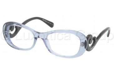 Prada PR09PV Progressive Prescription Eyeglasses LAC1O1-5219 - Transparent Azure Frame