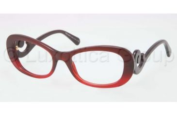 Prada PR09PV Progressive Prescription Eyeglasses MAX1O1-5219 - Red Gradient Frame