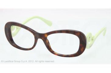 Prada PR09PV Progressive Prescription Eyeglasses QFL1O1-52 - Havana Frame