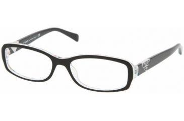 Prada PR10NV Bifocal Prescription Eyeglasses ABY1O1-5116 - Top Black Serigraphy