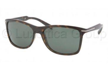 Prada PR10OS Sunglasses 2AU3O1-6016 - Havana Frame, Green Lenses