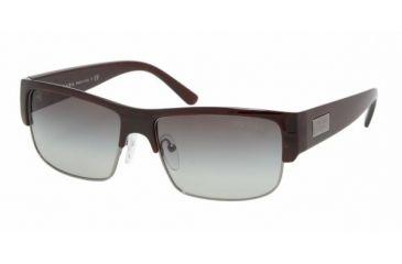 Prada PR11MS #0AG3M1 - Dark Bordeaux Frame, Gray Gradient Lenses