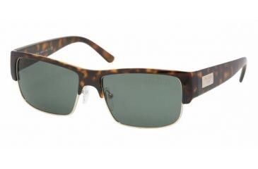 Prada PR11MS #2AU3O1 - Havana Frame, Gray Green Lenses