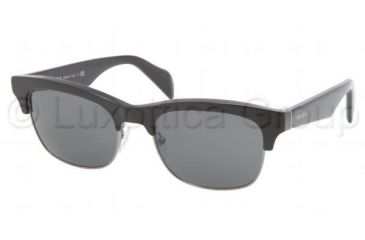 Prada PR11PS Sunglasses 1AB1A1-5419 - Black Frame, Gray Lenses
