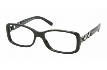 Prada PR13MV #1AB1O1 - Gloss Black Frame, Demo Lens Lenses