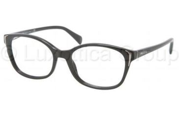 Prada PR13OV Bifocal Prescription Eyeglasses 1AB1O1-5417 - Black Frame