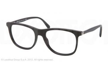 Prada PR13PV Eyeglass Frames 1BO1O1-52 - Matte Black Frame, Demo Lens Lenses