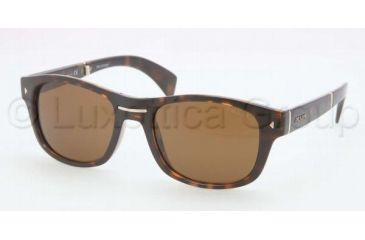 Prada PR14OS Sunglasses 2AU1H0-5420 - Havana Frame, Brown Lenses