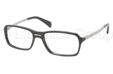 Prada PR15NV Bifocal Prescription Eyeglasses BRO1O1-5417 - Top Black/Saffiano