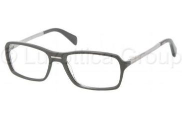 Prada PR15NV Progressive Prescription Eyeglasses BRP1O1-5417 - Top Gray/Military Gray