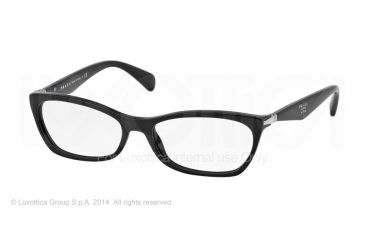 Prada PR15PV Progressive Prescription Eyeglasses 1AB1O1-55 - Black Frame