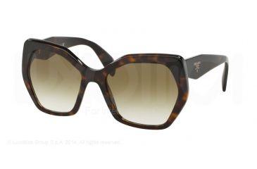 acf14d7e440a45 Prada PR16RS Sunglasses 2AU4M0-56 - Havana Frame