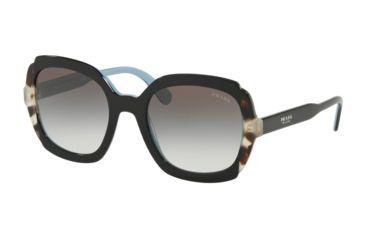 37f75e6e7d282 Prada PR16USF Sunglasses KHR0A7-54 - Black Azure Spotted Brown Frame