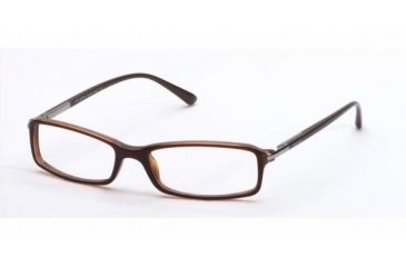 Prada PR17GV #70I1O1 - Brown Top On White And H Demo Lens Frame