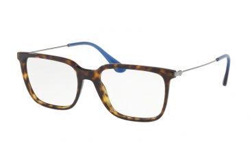 9718ae713703 Prada PR17TV Single Vision Prescription Eyeglasses 2AU1O1-55 - Havana Frame