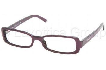 Prada PR18LV Single Vision Prescription Eyewear 7WO1O1-5317 - Raspberry