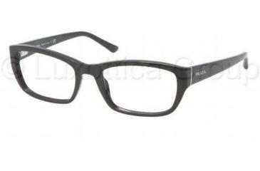 Prada PR18OV Bifocal Prescription Eyeglasses 1AB1O1-5218 - Black Frame