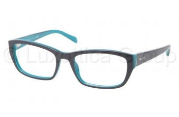 Prada PR18OV Progressive Prescription Eyeglasses JAD1O1-5218 - Top Blue/Azure Frame, Demo Lens Lenses