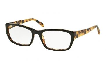 c16e601307 Prada PR18OV Eyeglass Frames NAI1O1-52 - Top Black Medium Havana Frame
