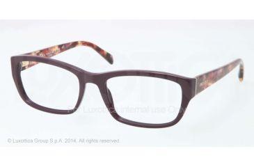 Prada PR18OV Bifocal Prescription Eyeglasses ROM1O1-52 - Violet Frame