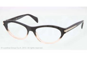 Prada PR18PV Progressive Prescription Eyeglasses QFJ1O1-52 - Black Gradient Pink Frame