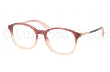 Prada PR19OV Single Vision Prescription Eyeglasses JAH1O1-5217 - Bordeaux Gradient Frame, Demo Lens Lenses