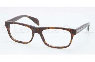 Prada PR19PV Bifocal Prescription Eyeglasses 2AU1O1-5318 - Havana Frame