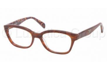 Prada PR20PV Single Vision Prescription Eyeglasses MAU1O1-5217 - , Demo Lens Lenses