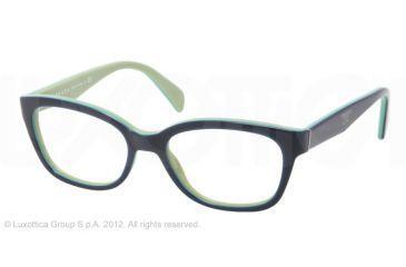 Prada PR20PV Progressive Prescription Eyeglasses OAB1O1-52 - Top Blue/Turquoise/Green
